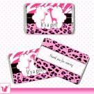 Printable Cute Pink Zebra Leopard Design Giraffe Mini Candy Wrapper - Baby Shower