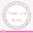 40 Personalized Sweetshop Candyland Thank You Tags - Baby Shower Birthday Occassions