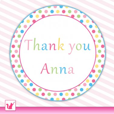 sweetshop candyland thank you tags baby shower birthday occassions
