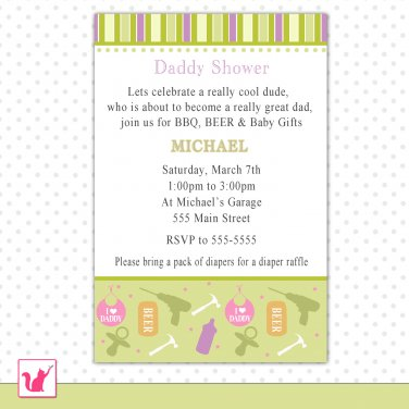 30 Personalized Cute Tool Shop Daddy Shower - Baby Shower Invitations