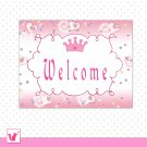 Printable Personalizable Pink Princess Butterfly Welcome Sign - Birthday Baby Shower Any Occassion