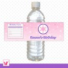 25 Personalized Purple Pink Winter Wonderland Water Bottle Label Wrappers - Birthday Party