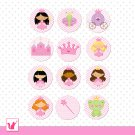 Printable Pink Princess Tags Sticker Labels