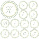 Hand Made Personalized Green Damask Happy Birthday Banner - Customizable For Any Occassion