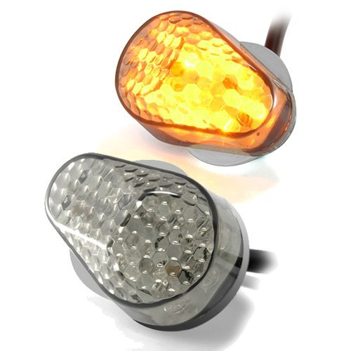 LED Flush Mount Sport Bike Turn Signals - Clear or Tinted