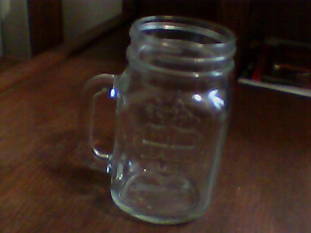 clear glass bar jar leaded fuel with handle unique
