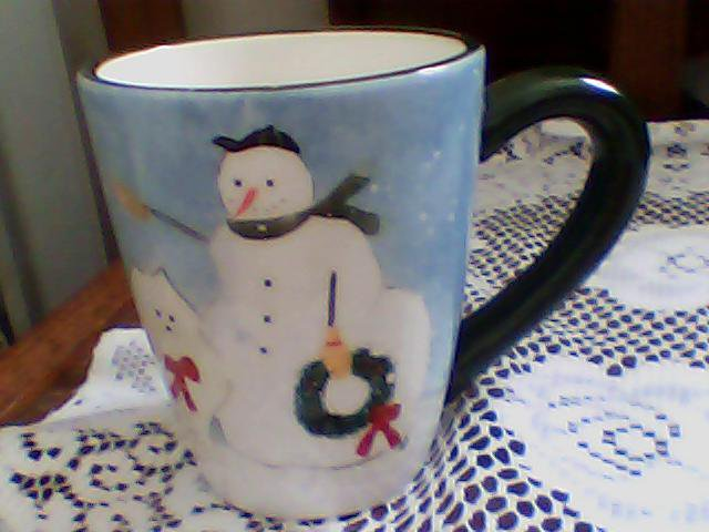coffee cup,mug oneida kitchen warren kimble snow family