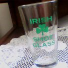 collectable clear beer glass irish shot glass 3 leaf clover