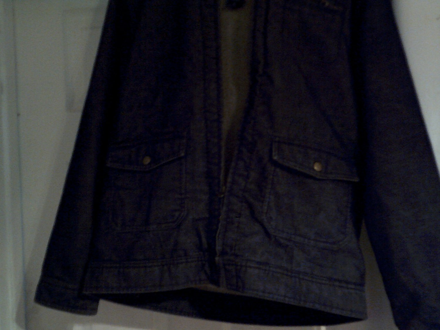 mens denim coat size XL cherokee dark blue pre-owned nice