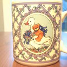 coffee cup,mug enesco lucy rigg 1986 teddy bear ride on goose