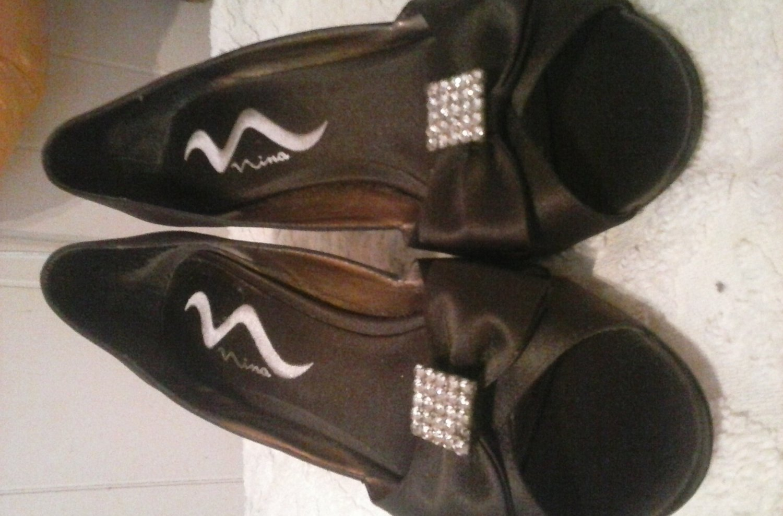 Womens high heel shoes 8 1/2 M nina brown cute