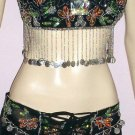 Black Belly Costume FREE BINDI Stunning Hot DANCE EHS