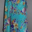Skirt Wrap Vintage Sarong Size large Saree Flower Print