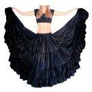 Flamenco-skirts for flamenco Dance satin fabric indiantrends black