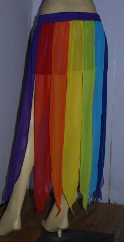 Rainbow Skirt With Gypsy Top Belly Dance Dress Lining