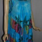 Vibrant color  Maxi dress  all occasions Umbrella Tie Die