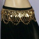 Metal belly dance tribal gypsy belts from Indiantrend golden tone