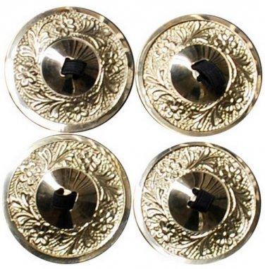 Golden Zills Finger Cymbals 2 pairs  with finger elastik