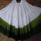25 Yard 4 Tier Skirt Dance Tribal Skirt  100%  cotton hand tie  dye