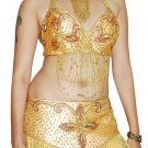 Gold Gold Professionally Belly Dancing Costume Set easyship