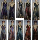 WHOLESALE LOT OF 5 SCARVE DRESSES Maxi Colors 2 rings VIBERATING COLORS