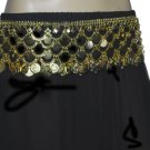 Gold Coined designer fashion metal belt for belly dance