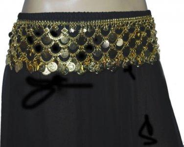 Gold Coined designer fashion metal belt for belly dance
