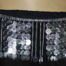 Metal belt for belly dancers in silver coin