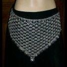 Belly Dance metal belt silver color