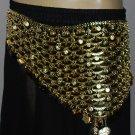Indian Metal Coin Belt Belly Dance Gypsy Pan golden