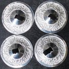 4 pc Silver tuned tribal belly dance zills - free shipping