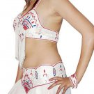 Dance Costume oriental white beatutiful perfect fine detailing Belly DANCE EHS
