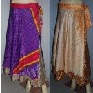 Wholesale 10 Skirts  Sari Wrap Sari  Sarong large  Reversible  Promotion Sale