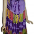 20 pcs Women casual tie dye rayon summer dress - womenclothings