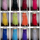 Assorted colors 5 pcs Full Circle Skirt With hip Scarve - store333