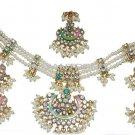 Beautiful pearl Jewellery NECKLACE EARRINGS TIKKA SET