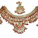 Chand Jewellery NECKLACE EARRINGS TIKKA SET