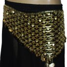 Turkish oriental dance Metal belly dance golden belt - store333