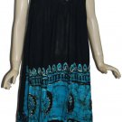 10 BABYDOLL RAYON EMBRIODERY LONG DRESS - INDIANTREND