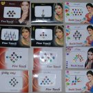 12 Sheets of Indian Belly Dance Bindi Tattoo Stickers - Latest Addition