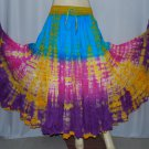 Multicolor  25 Yard Gypsy Tribal Dance Skirt