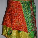 Double  layer sari Wholesale 10 Skirt  Multiwear Vintage Boho beach skirts mini