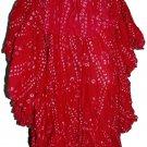 West African Dance polka dot skirt Hotpink color