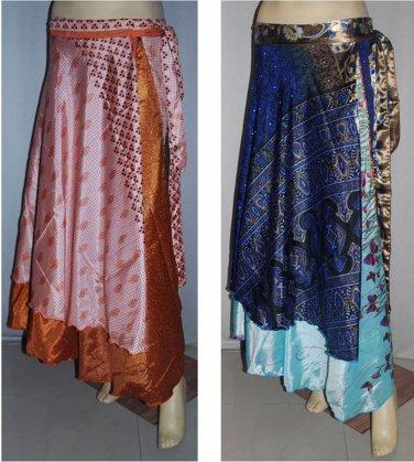 10pcs Vintage Art Silk Magic Wrap Skirt Halter Tube Maxi Dress -Wholesale