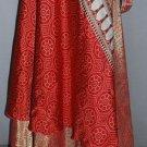 Art Silk sari wrap around vintage 6 skirt dress - indiantrend