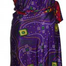 5 Pcs 3/4 India Wrap Around magic Wrap Skirt - Art Silk