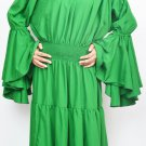 Medieval Tribal Green Renaissance Gothic  Theater Women Chemise Dress New