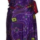 5 Pcs Multi Colors Indian Long Beach Wrap Around Skirts - Art Silk