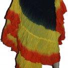 12 yard New Belly Dance Skirt triple color dye