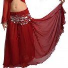 Double  Circle Skirt with NO Slits, for Belly Dance Free Scarve